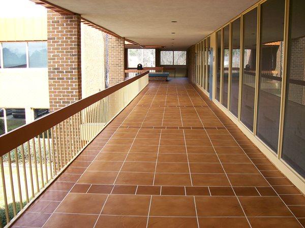 Balcony, Railing, Decorative, Overaly, Stain Concrete Walkways Concrete Restoration & Engraving Blythewood, SC