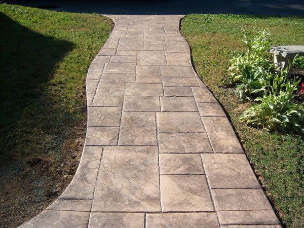Brown, Ashlar Slate Concrete Walkways CamoCrete Exton, PA