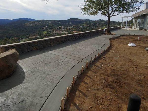 Concrete, Concrete Walkway, Walkway Concrete Walkways Pro-Active Concrete San Diego, CA