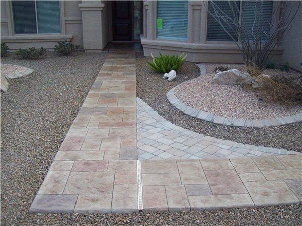 Concrete Walkways Decorkrete Inc. Tucson, AZ