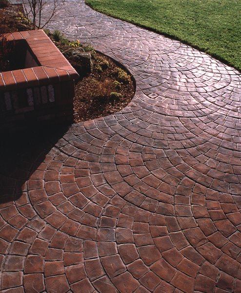 Fan Pattern, Brick Concrete Walkways Brickform Rialto, CA