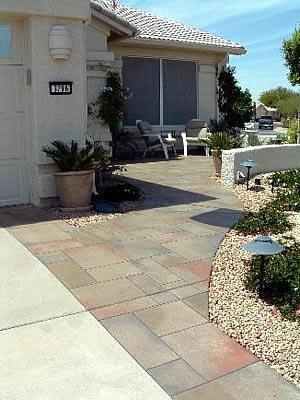 Geometric, Colored Concrete Walkways Concrete Art Carlsbad, CA