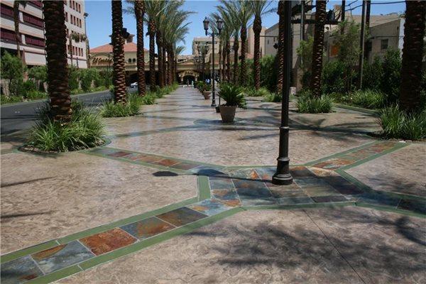 Green, Tile Concrete Walkways ArtCon Inc. Las Vegas, NV