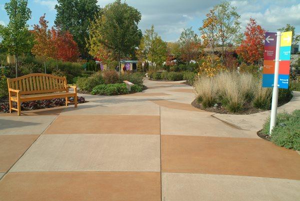 Integral Colored Concrete, Concrete Color Concrete Walkways Designing Concrete Inc Woodstock, IL