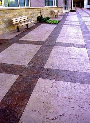 Large, Textured Concrete Walkways Colorado Hardscapes Denver, CO
