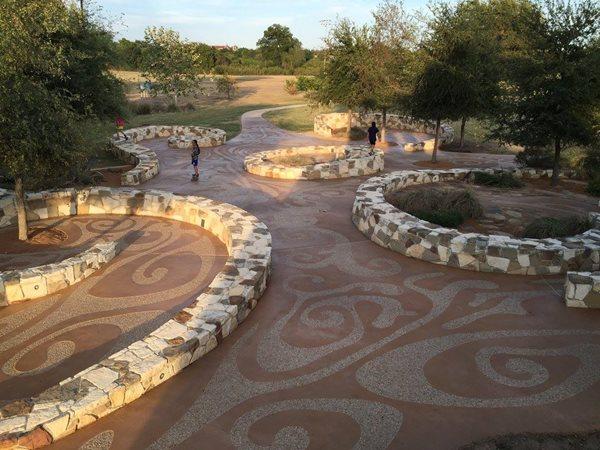Mission Concepcion Park, Exposed Aggregate Paths Concrete Walkways Sundek of San Antonio San Antonio, TX