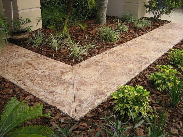 Molted, Tan, Brown Concrete Walkways A1 Concrete Designs Oviedo, FL