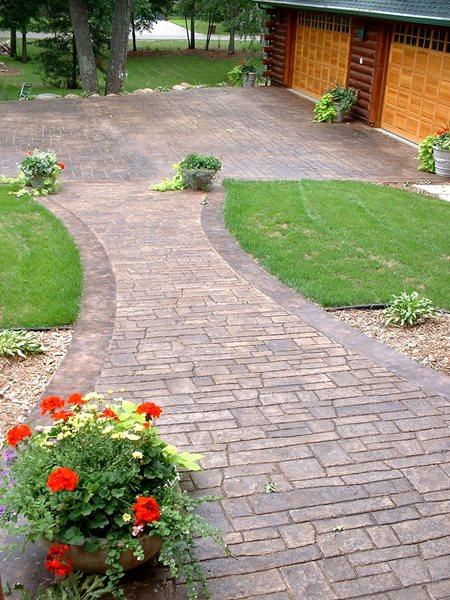 Natural, Brick Concrete Walkways Verlennich Masonry and Concrete Staples, MN