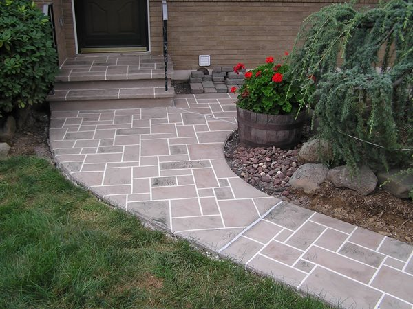 Pavers, Path Concrete Walkways Endless Concrete Design Zionsville, PA
