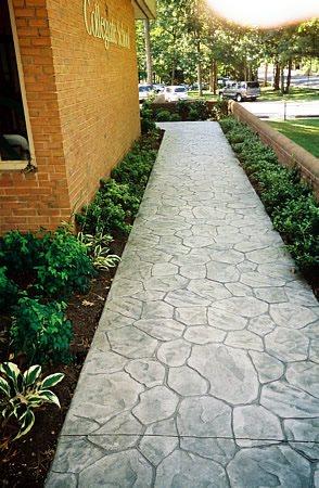 Stamped, Grey Concrete Walkways Monte Cristo Concrete Virginia Beach, VA