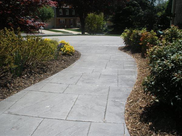 Stamped Walkway, Stone Stamp Concrete Walkways Schneider Contracting Corporation Alexandria, VA