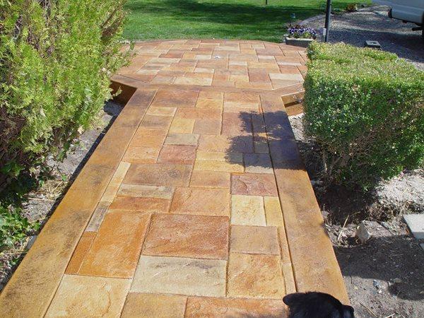 Stone, Border Concrete Walkways Apex Concrete Designs, Inc. Roseville, CA