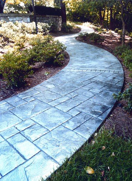 Stone, Winding Concrete Walkways AMCON, LLC Gaithersburg, MD