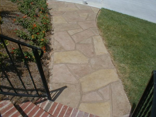 Suede, Stone Concrete Walkways Elite Crete Corporation Valparaiso, Indiana