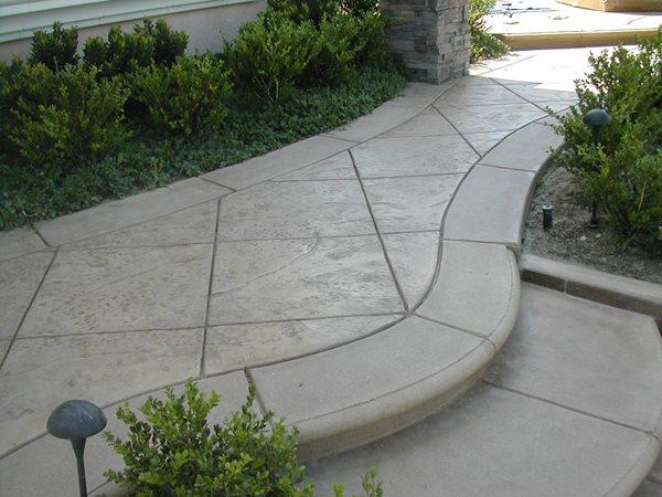 Textured, Grey Concrete Walkways Concrete FX Warrenton, VA