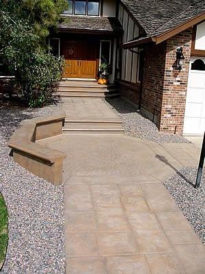 Title, Exposed Aggregate Concrete Walkways Colorado Hardscapes Denver, CO