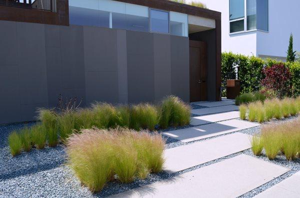 Walkway, Modern, Gravel, Grasses Concrete Walkways ConcreteNetwork.com