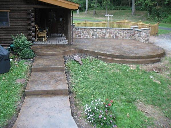 Walkway, Patio, Log Cabin Concrete Walkways Concrete Styles Inc Schwenksville, PA