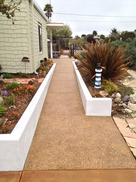 Aggregate Walkway, Pebble Walkway Exposed Aggregate Burch Concrete Solutions Los Osos, CA