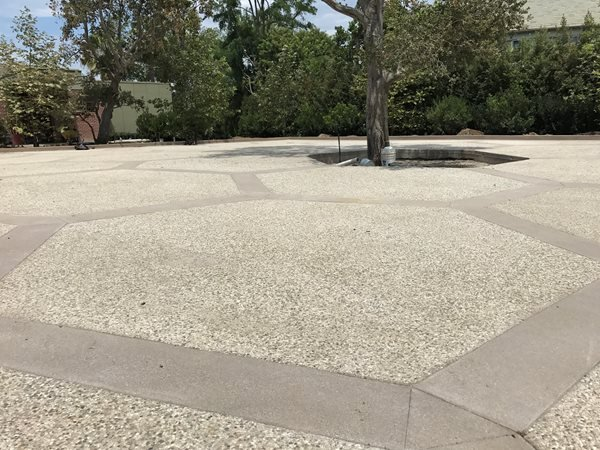Exposed Aggregate, Hexagon Pattern Exposed Aggregate LA Concrete Works West Hills, CA