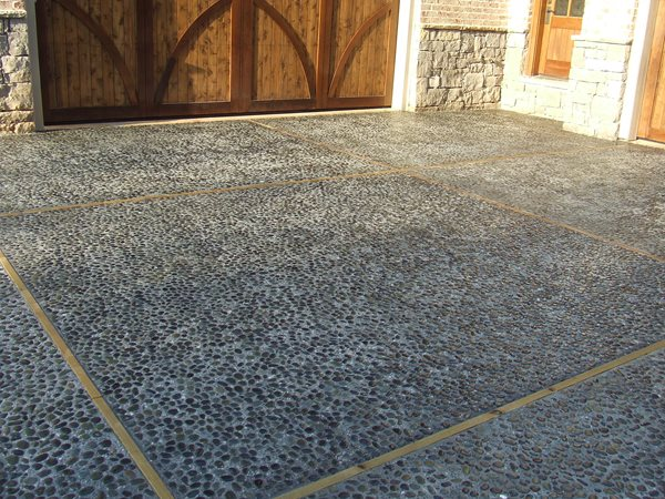 Mexican Beach Pebble, Concrete Driveway Exposed Aggregate Amazing Concrete Inc Aliso Viejo, CA
