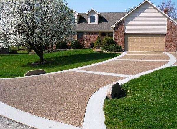 Pea Gravel, Exposed Aggregate Exposed Aggregate Concrete Tailors, LLC Noblesville, IN