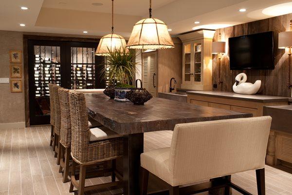Faux Bois Table, Concrete Dining Table JM Lifestyles Randolph, NJ