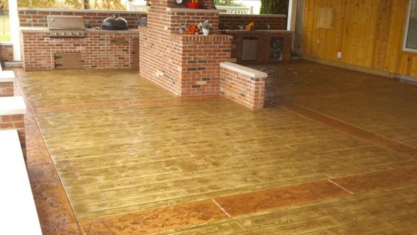 Faux Wood, Concrete Patio Concrete Creations Plymouth, IN