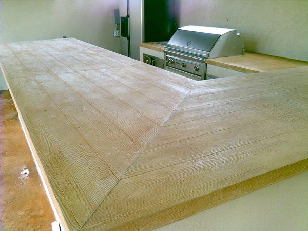 Faux Wood Countertops Stamped Artistry Pasadena, TX