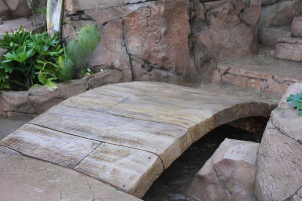 Faux Wood Planks, Concrete Bridge Matrix Concrete Artisans Oceanside, CA