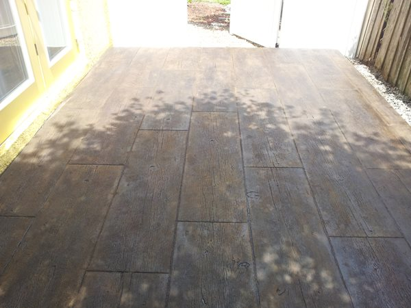 Wood Look Concrete Visual Artisan, LLC Kissimmee, Fl