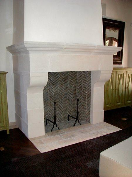 Bone, Hearth Fireplace Surrounds Monterey Bay Cast Stone Watsonville, CA