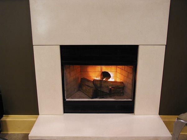 Bone, Smooth Fireplace Surrounds Cutting Edge Decorative Concrete Richfield, OH