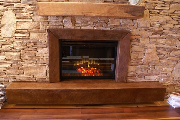 Brown Fireplace Surround, Brown Concrete Fireplace Fireplace Surrounds Innovative Concrete & Design Carbondale, CO