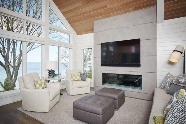 Concrete Fireplace, Fireplace Facade Fireplace Surrounds Hard Topix Jenison, MI