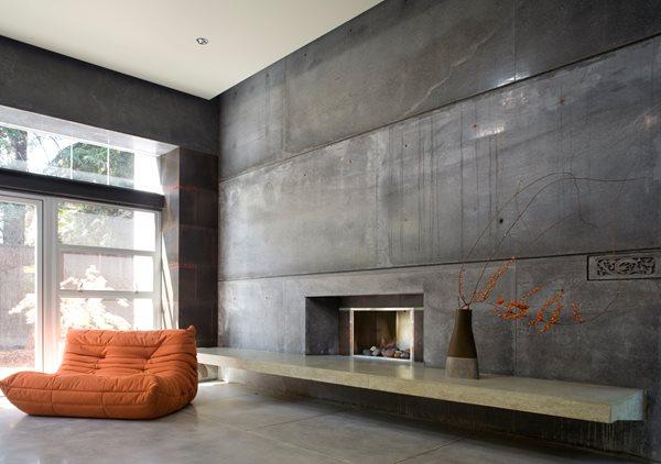 Concrete, Fireplace, Gray Fireplace Surrounds Cheng Design Berkeley, CA