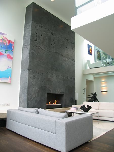 Concrete Fireplace, Modern Fireplace Fireplace Surrounds THJ Solutions Epsom, Surrey