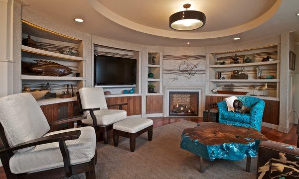 Concrete Fireplace Surround, Concrete Media Wall Fireplace Surrounds Crouch Concrete, Inc. Sequim, WA