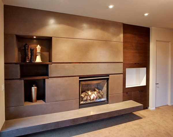 Concrete Rectangles, Fireplace Fireplace Surrounds Flying Turtle Cast Concrete Modesto, CA