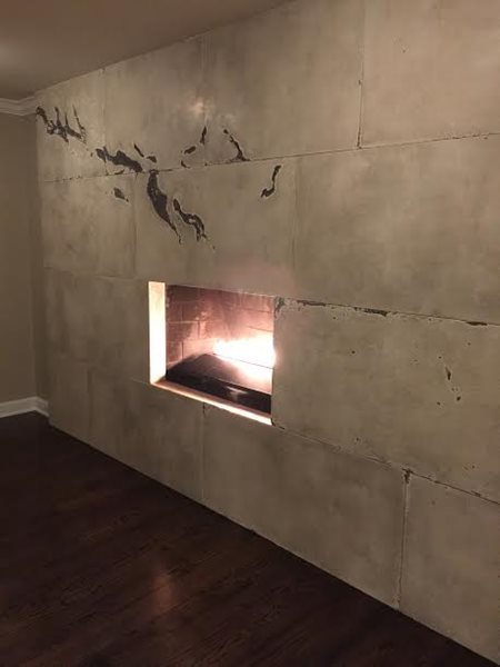 Contemporary Fireplace, Modern Fireplace Fireplace Surrounds M Concrete Studios LLC Dayton, OH