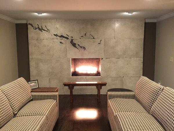 Custom Fireplace, Fireplace Design Fireplace Surrounds M Concrete Studios LLC Dayton, OH