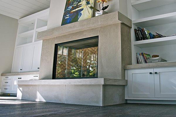 Custom Fireplace, Hand Made Fireplace Fireplace Surrounds Concrete Interiors Martinez, CA