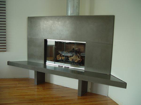 Fireplace Fireplace Surrounds California Concrete Designs Anaheim, CA