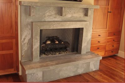 Fireplace Fireplace Surrounds Mark Concrete Moss Landing, CA