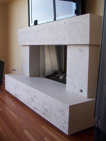 Fireplace Surround, Concrete Fireplace, Cement Fireplace Fireplace Surrounds Concrete Interiors Martinez, CA