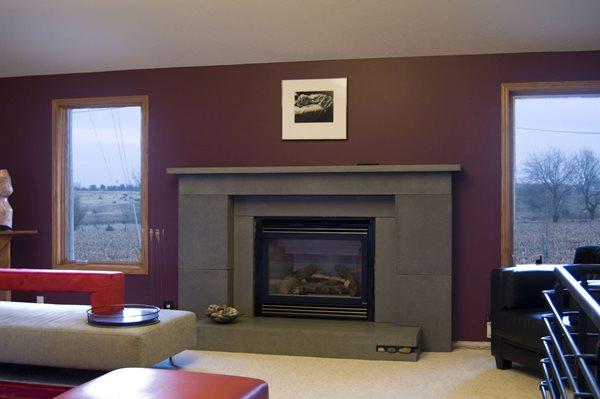 Fireplace, Surround, Grey Fireplace Surrounds Atlas Archimedes Design Prairie Village, KS