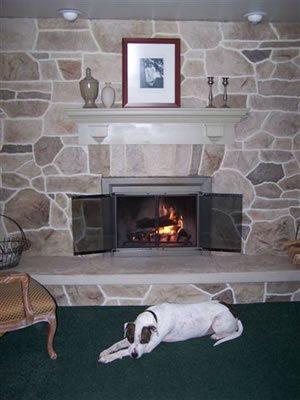 Fireplace, Vertical Fireplace Surrounds Custom DesignCrete, Inc Crescent, PA