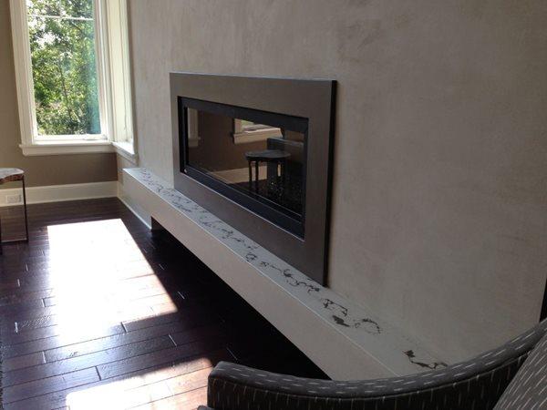 Floating Concrete Hearth Fireplace Surrounds Hard Topix Jenison, MI