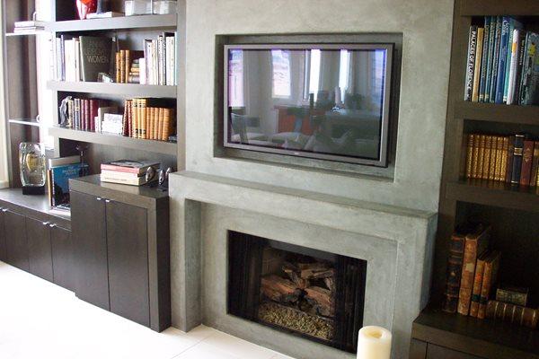 Grey, Rectangle Fireplace Surrounds Kaldari Santa Ana, CA