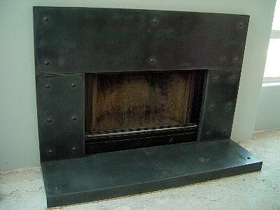 Metal Looking, Slate Fireplace Surrounds California Concrete Designs Anaheim, CA
